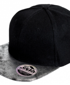 Nokamüts Result Bronx Glitter Flat Peak Snapback Cap
